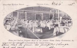 DENVER, Colorado, PU-1905; Interior , Home Dairy Restaurant