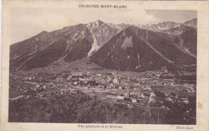 France Chamonix Mont Blanc Vue generale et le Brevent 1934