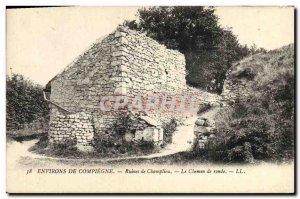Old Postcard Around Compiegne Ruins Champlieu The walkway
