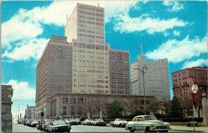 Vtg 1950s Rodney Square Library Delaware Trust Building Wilmington DE Postcard