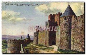 Old Postcard Cite De Carcassonne