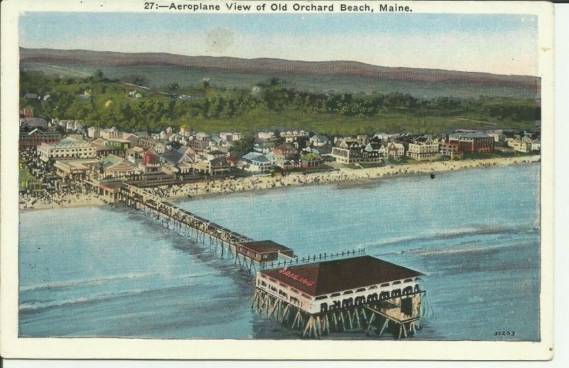 Old Orchard Beach, Maine, Aeroplane View
