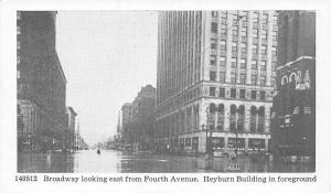 Louisville Kentucky~Broadway from Fourth Avenue~Heyburn Bldg~1937 Flood Postcard