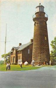 F54/ Fairport Harbor Ohio Postcard Chrome Museum Lighthouse Lake Erie