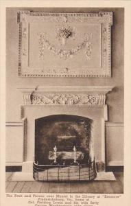 The Fruit And Flower Over Mantel In The Library At Kenmore Fredericksburg Vir...