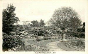 RPPC Postcard; Anzac Park, Hamilton New Zealand 5321 Formal Garden unposted