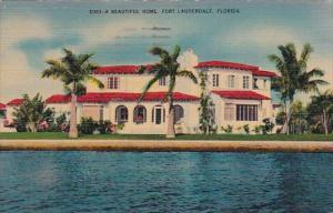 Florida Fort Lauderdale A Beautiful Home 1944