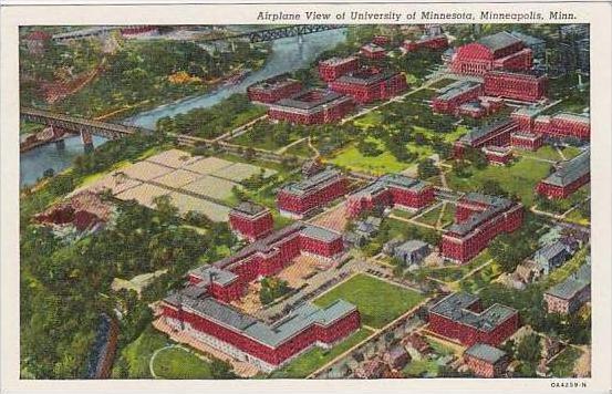 Minnesota Minneapolis Airplane View Of University Of Minnesota