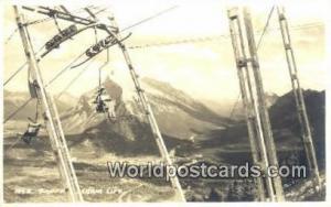 Canada Banff Chair Lift Real Photo