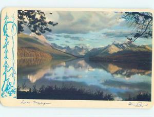 Unused Pre-1980 TOWN VIEW SCENE Maligne Lake - Jasper Alberta AB p8815