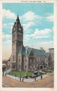 Massachusetts Holyoke City Hall 1930 Curteich
