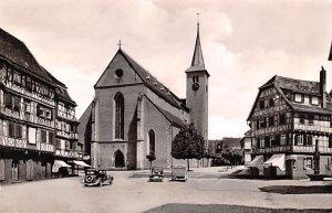 Marktplatz mit evangelischer Kirche Mosbach Germany 1955 Missing Stamp