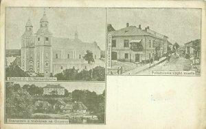ukraine poland, TEREBOVLIA, Cathedral, Ul. Sienkiewicza (1910s) Postcard