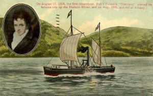 NY - Hudson River Valley. Robert Fulton and Clermont Ship