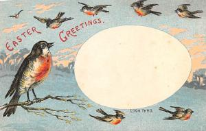 Birds Easter Greetings Hold to Light Unused