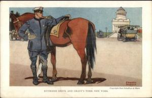 E Penfield New York City Police Officer/Horse Riverside Dr MARSHALL ILLINOIS