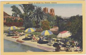 Swimming Pool, Garden spot, winter at Jokake Inn, Phoenix, Arizona,1930-1940s