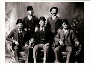The Wild Bunch Butch Cassidy and the Sundance Kid in 1900 Modern Postcard