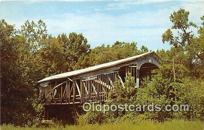 Covered Bridge Vintage Postcard Richland Creek Covered Bridge Bloomfield, IN,...