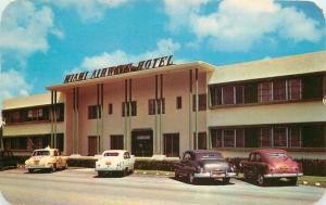 Airways Hotel  Autos 1951 Miami Springs Florida 6225 Dexter postcard 6225