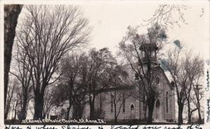 Illinois St Anne St Anne's Catholic Church 1945 Real Photo