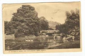St Stephen's Green & shelbourne Hotel, Dublin, Ireland 1910-30s