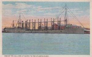 Colliers Attached to Atlantic Shipping Ship Fleet American Antique Postcard