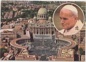 Pope John Paul II, San Pietro in Vaticano, Vatican, unused Postcard