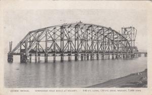 Suspended Span , Quebec bridge construction , 1917