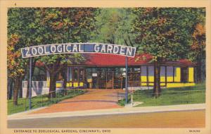 Entrance to Zoological Gardens, Cincinnati, Ohio, 1939 PU