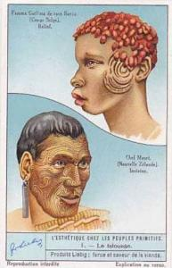 Liebig Vintage Trade Card S1292 Adorning the Body by Primitive People No 1 Le...