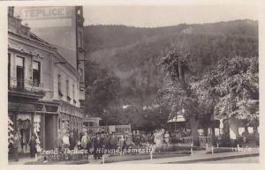 RP: Trenc.Teplice, Slovakia , 1910s Street View , Hlavne namestie