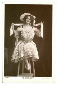 Antique RPPC postcard Miss Daisy Jerome actress singer stage theatre