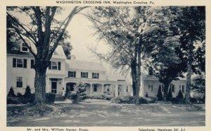 WASHINGTON CROSSING, Pennsylvania, 30-50s; Washington Crossing Inn