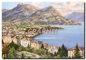 Postcard Modern Monte Bre Lugano e Boglia