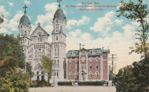 St Anne French Catholic Church - Fall River MA, Massachusetts - pm 1911 - DB