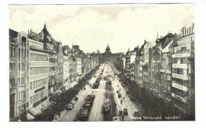 Prag Czech Republic , 1900-10s ; Le Place Venceslas