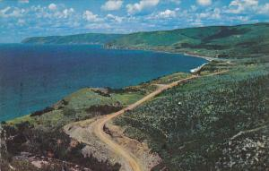 Coastal Scene on the Cabot Trail, CAPE BRETON, Nova Scotia, Canada, 40-60's