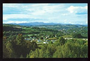 Barre, Vermont/VT Postcard, Scenic View Of Town