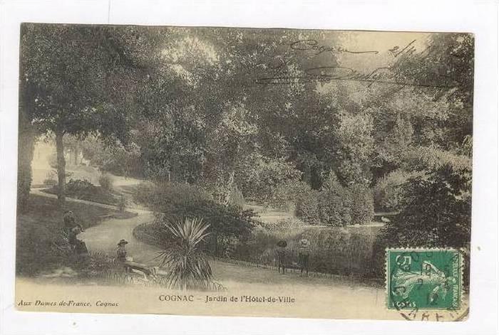Cognac, France, PU-1912, Jardin de l'Hotel-de-Ville