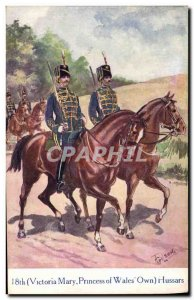 Postcard Old Army 18th Victoria Mary Princess of Wales Own Hussars