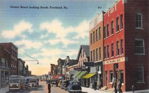 Center Street Looking South, Freeland, Pennsylvania, Early Postcard, Unused