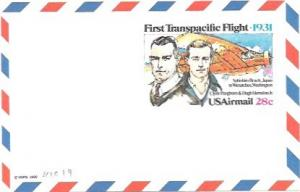 US UXC19  Air Mail Postcard
