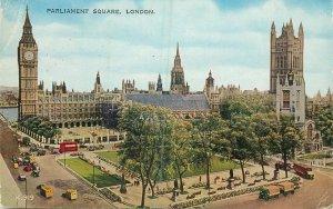 Postcard UK England London parliament square