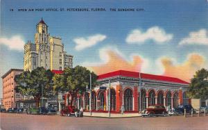 Open Air Post Office, St. Petersburg, Florida, Early Postcard, Unused