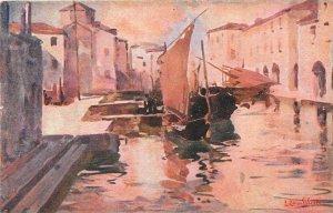 Italy, Venezia, Chioggia, Canale delle Pescherie, Chiesa S. Andrea  artist si...