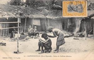 Gabon Lastoursville (Haut-Ogooue) Salon de Coiffure Adouma, barber