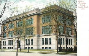 South Bend Indiana~Elementary Grammar School~1905 Postcard