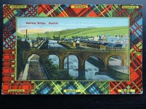 Scotland Tartans HAWICK Railway Bridge c1908 Postcard Woolstone Bros