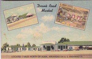 Arkansas Alma Dean's Market Cottages Gas Station & Cafe U S Highway 71 sk2870